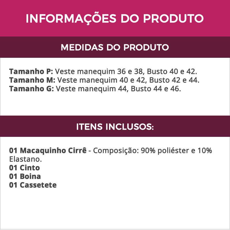 Fantasia Erótica Policial de Macaquinho Cirrê + Cassetete - EK2018