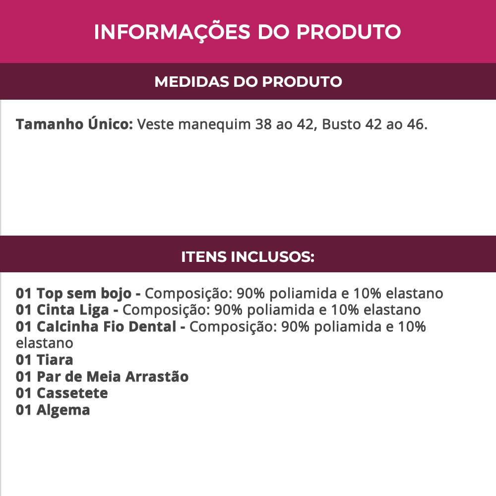 Fantasia Erótica Policial Com Meia Arrastão, Cassetete e Algema - EK2096