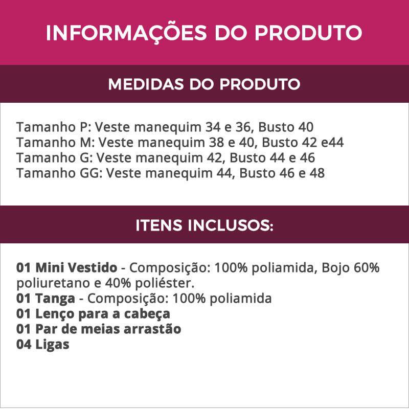 Fantasia Feminina Adulto Erótica Cigana Cartomante + Meia Arrastão - GV103