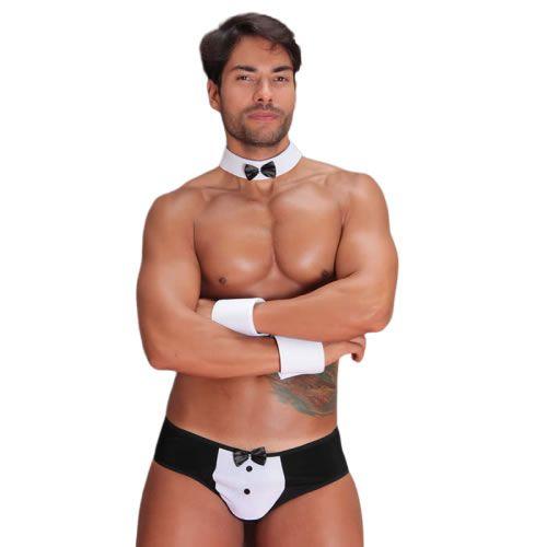 Fantasia Masculina Erótica de Garçom Sensual Adulto - GV416