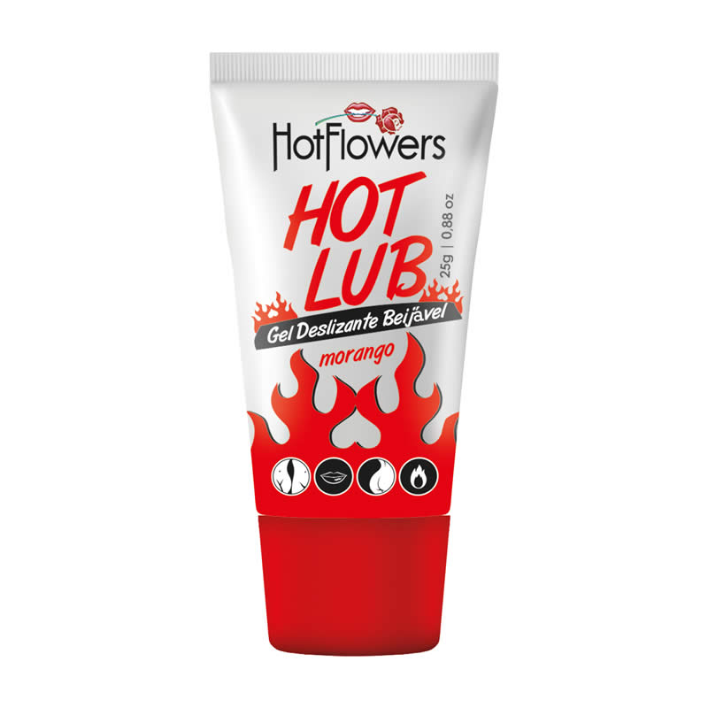 Gel Lubrificante Beijavel  Hot Lub sabor Morango - HFHC515