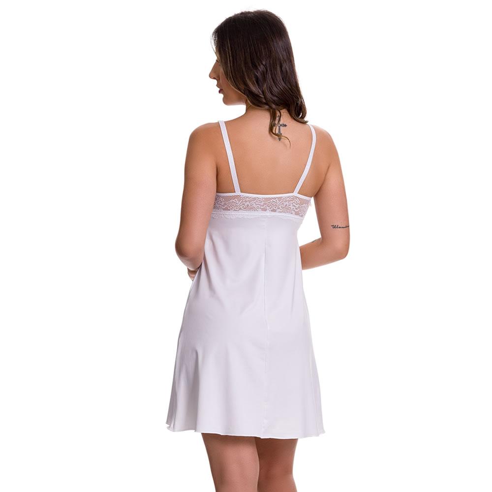 (KIT-V121) - 2 Camisolas Amamentação com Robe de Manga 7/8 1 Branca e 1 Vinho com Rosê - DR202-301
