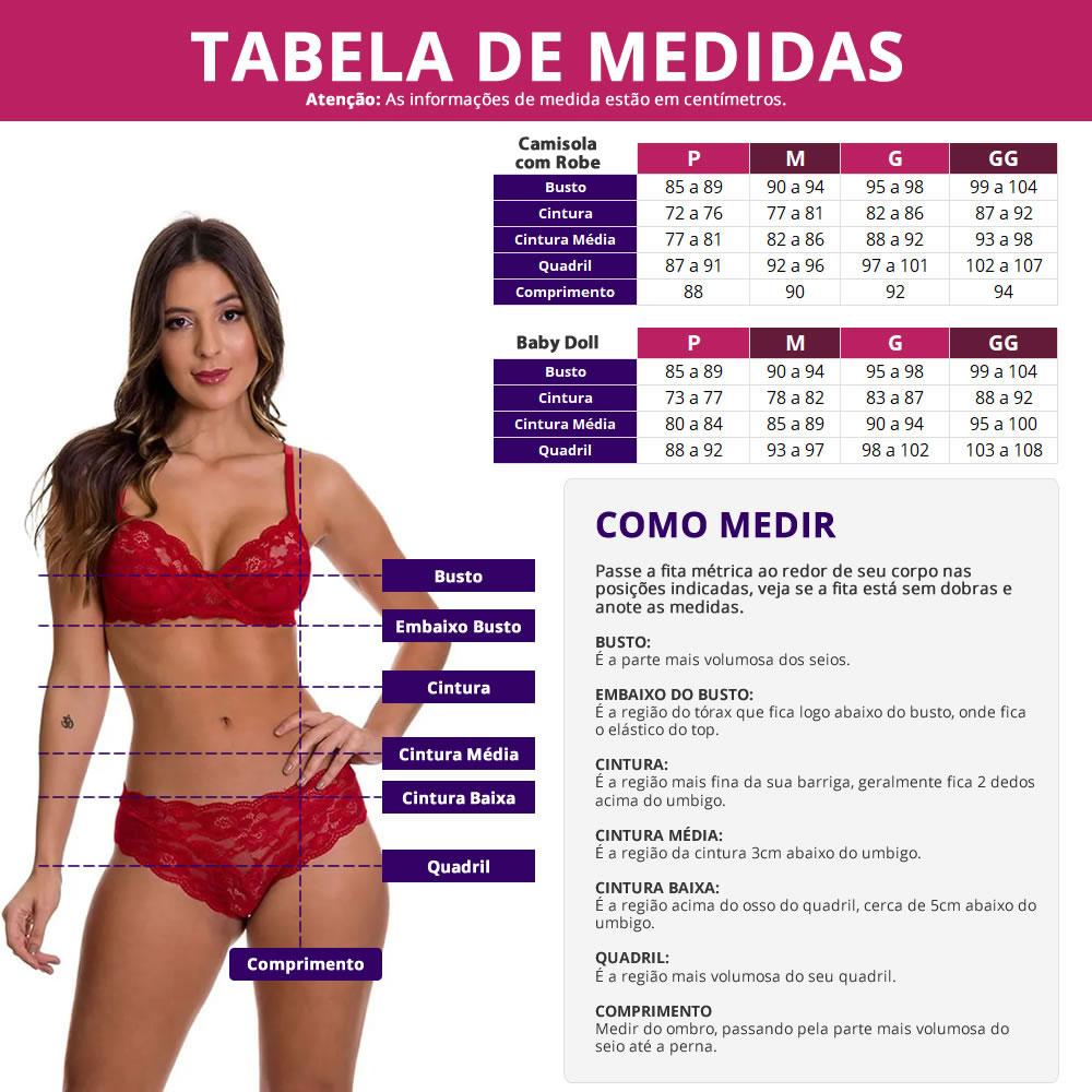 (KIT-V136) - Camisola Amamentação com Robe Vinho com Rose + Baby Doll Amamentação Rosê - DR202-301-DR203