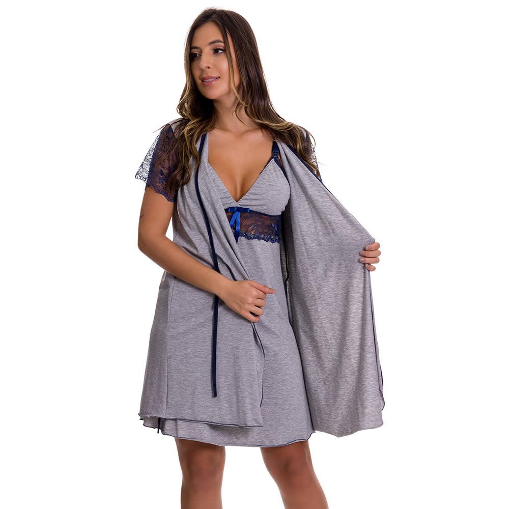 Robe em Viscolycra e Renda - ES221