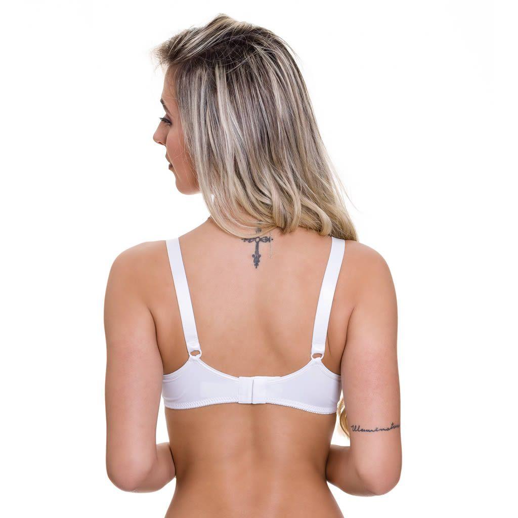 Sutiã Amamentação com Bojo Cortinão Branco - ME10040