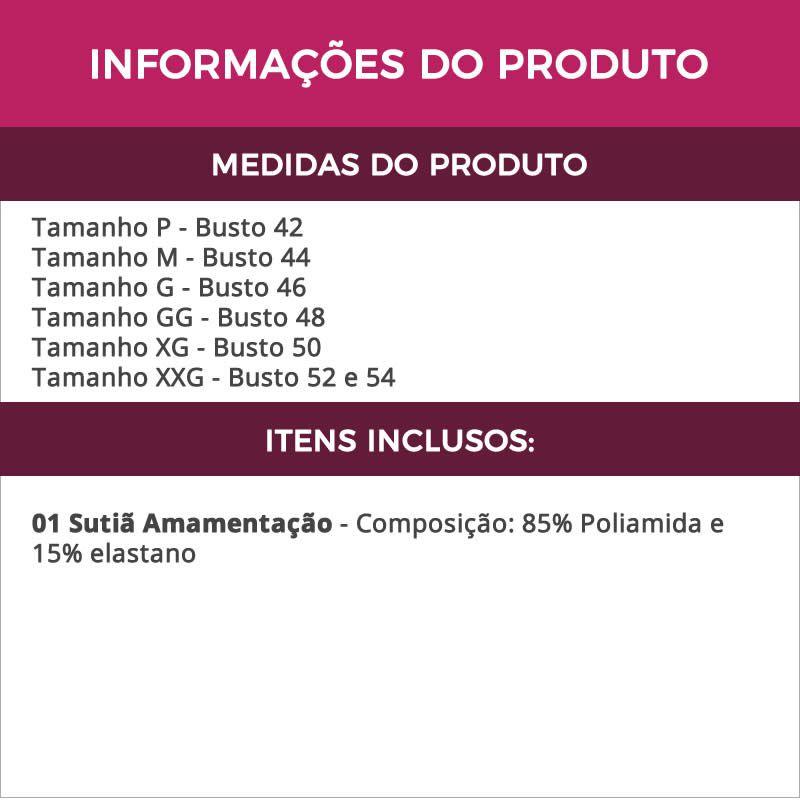 Sutiã Amamentação de Renda e Microfibra Preto Mariah - ME10061