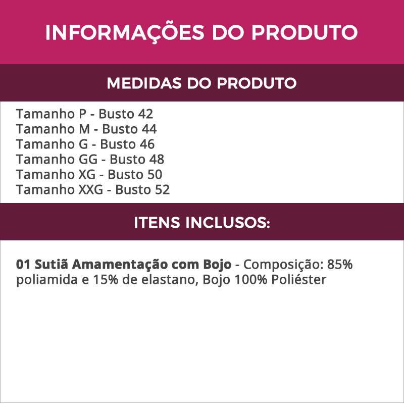 Sutiã Amamentação em Microfibra com Bojo Bege ou Preto - LP10029