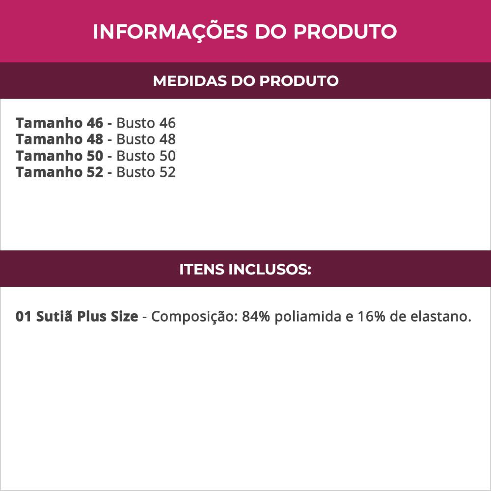 Sutiã Com Alça de Silicone Plus Size Preto ou Bege - CL916