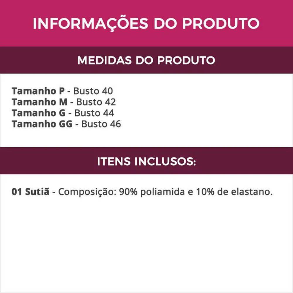 Sutiã Preto Strappy Bra com Tiras e Bojo em Microfibra - IN051
