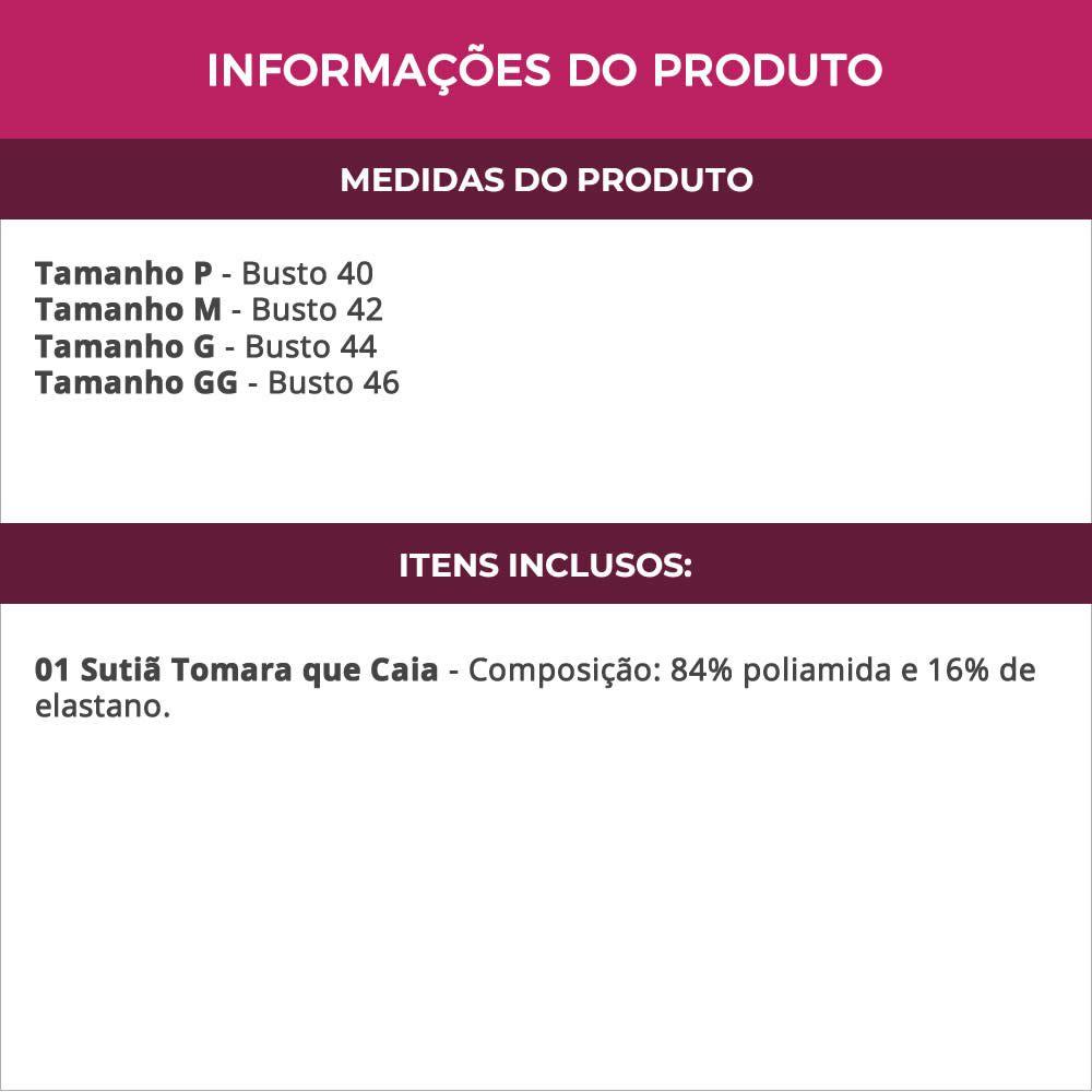 Sutiã Tomara Que Caia com Alça de Silicone nas Costas - CL8613