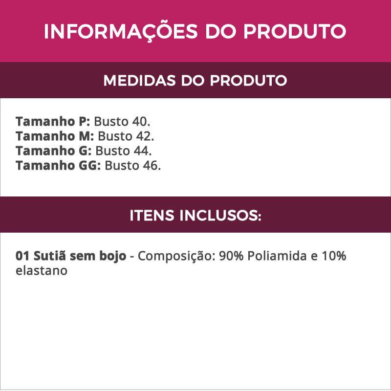 Sutiã Top em Renda e Microfibra sem Bojo - VF29