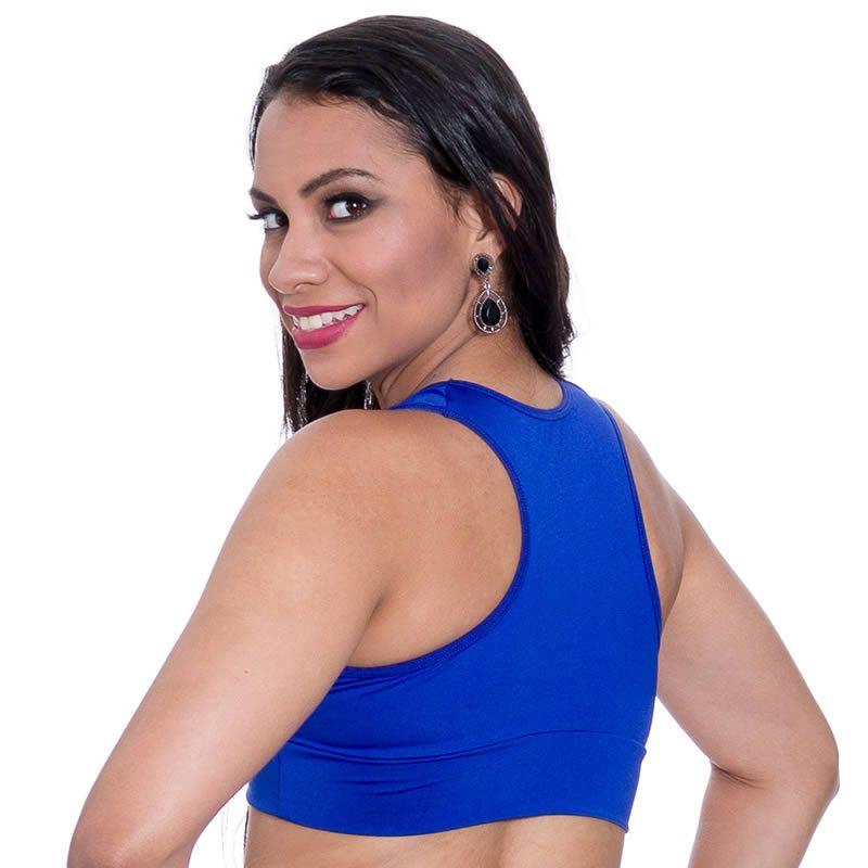 Top Feminino Suplex Nadador Liso Azul - DM702