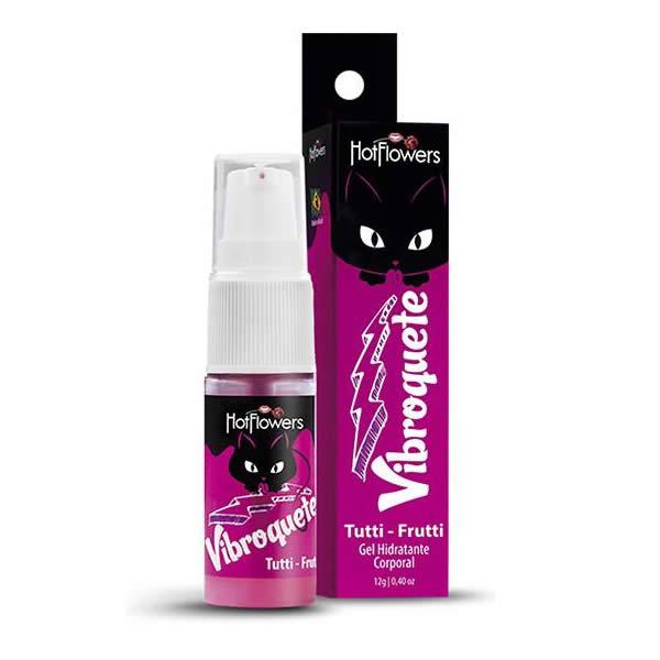 Vibroquete Vibrador Líquido Unissex Comestível para Sexo Oral sabor Tutti Frutti - HFHC461