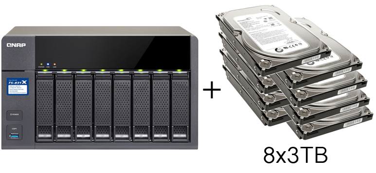 HD + Case QNAP TS-831X 8Bay 24TB  - Rei dos HDs