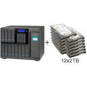 HD + Case QNAP TS-1635 16Bay (12x3,5 pol. e 4x2,5 pol.) 24TB