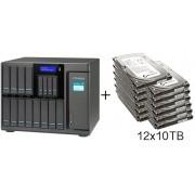 HD + Case QNAP TS-1635 16Bay (12x3,5 pol. e 4x2,5 pol.) 120TB
