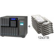 HD + Case QNAP TS-1635 16Bay (12x3,5 pol. e 4x2,5 pol.) 36TB