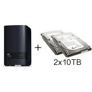 HD + Case WD My Cloud Expert Series EX2 Ultra 20TB