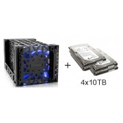 HD + Case Icy Dock Black Vortex 40TB