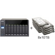 HD + Case QNAP TS-831X 8Bay 80TB