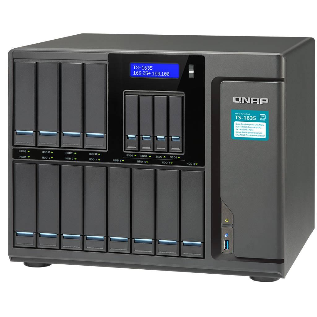 HD + Case QNAP TS-1635 16Bay (12x3,5 pol. e 4x2,5 pol.) 72TB  - Rei dos HDs