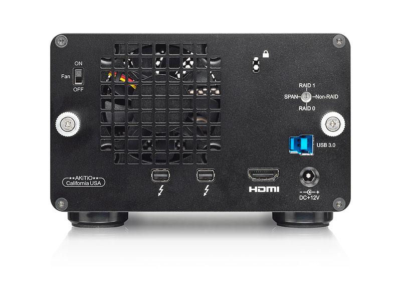 Case AKiTiO Thunder2 Duo Pro 0TB  - Rei dos HDs