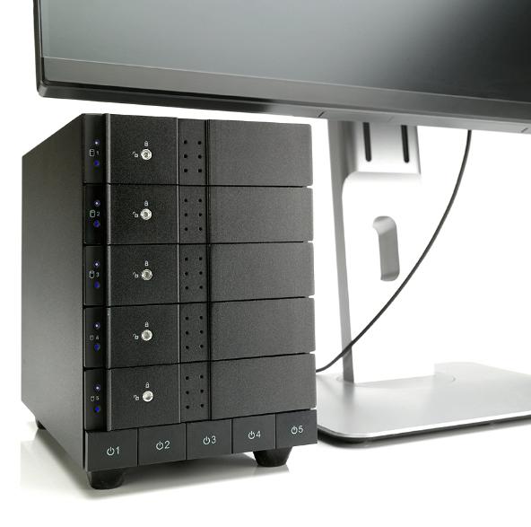 Case Oyen Digital Mobius 5-Bay Thunderbolt 2 0TB  - Rei dos HDs