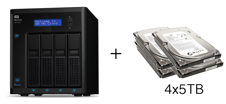 HD + Case WD My Cloud EX4100 20TB  - Rei dos HDs