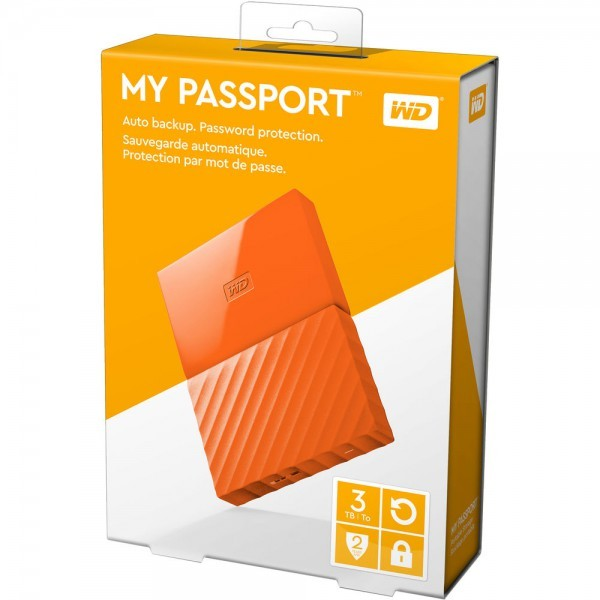 HD WD My Passport Laranja 3TB  - Rei dos HDs