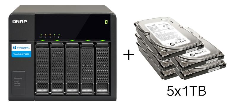 HD + Case QNap TX-500P 5TB  - Rei dos HDs