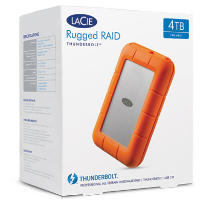 HD LaCie Rugged RAID 4TB - Rei dos HDs