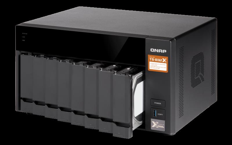 Case QNAP TS-832X 0TB  - Rei dos HDs