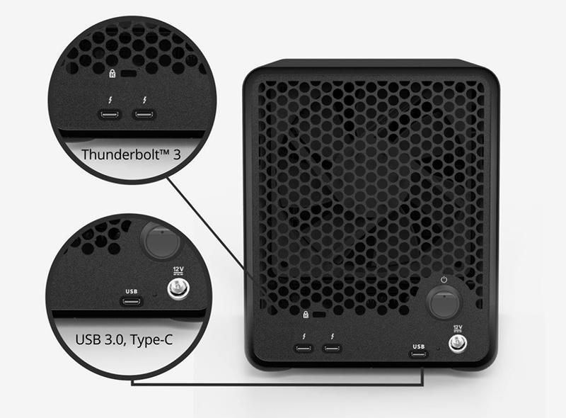 HD + Case Drobo 5D3 Thunderbolt 3 50TB  - Rei dos HDs
