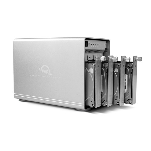 HD + Case OWC Mercury Elite Pro Quad USB-C 24TB   - Rei dos HDs