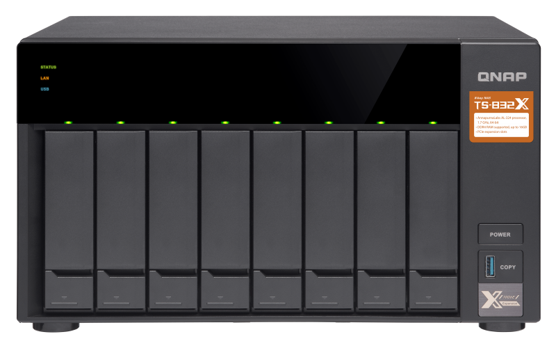 HD + Case QNAP TS-832X 80TB  - Rei dos HDs
