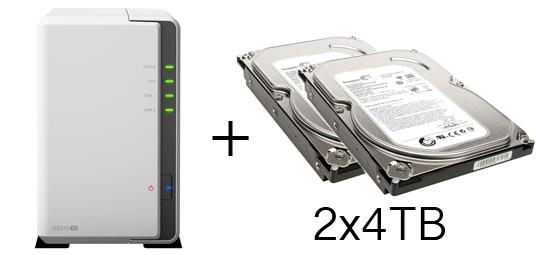 HD + Case Synology DiskStation DS216se 8TB  - Rei dos HDs