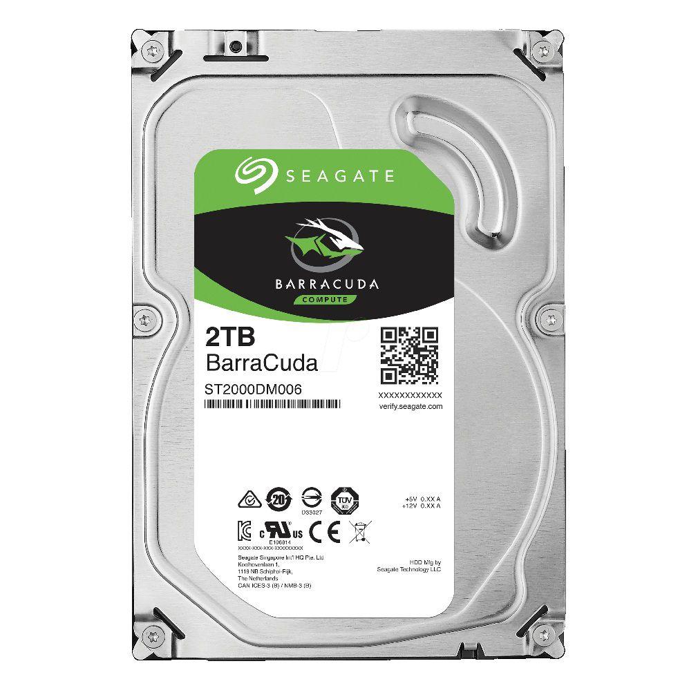 HD Seagate BarraCuda Desktop 3.5 2TB  - Rei dos HDs