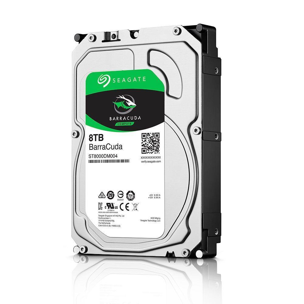 HD Seagate BarraCuda Desktop 3.5 8TB  - Rei dos HDs