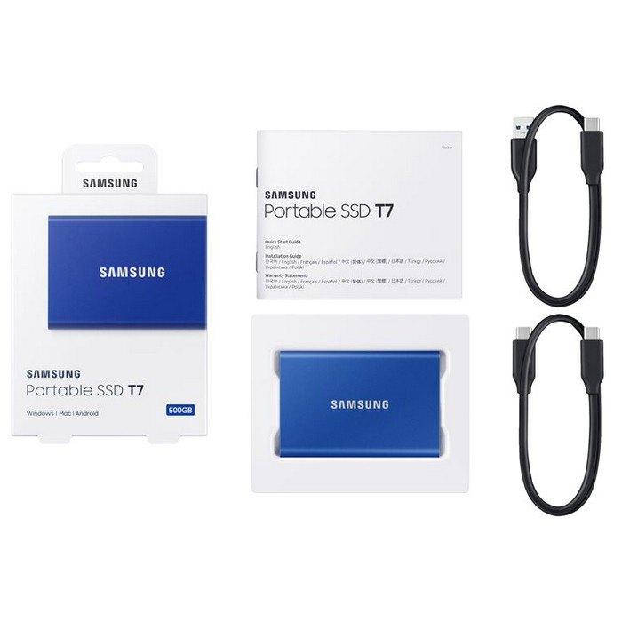 SSD Samsung T7 500GB Azul  - Rei dos HDs