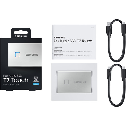 SSD Samsung T7 Touch Portable 500GB   - Rei dos HDs
