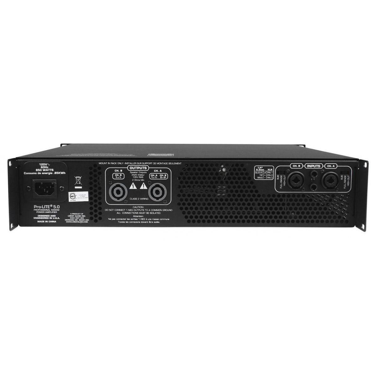 Amplificador Crest Audio Prolite 5.0 Superior Xti 6002 4002