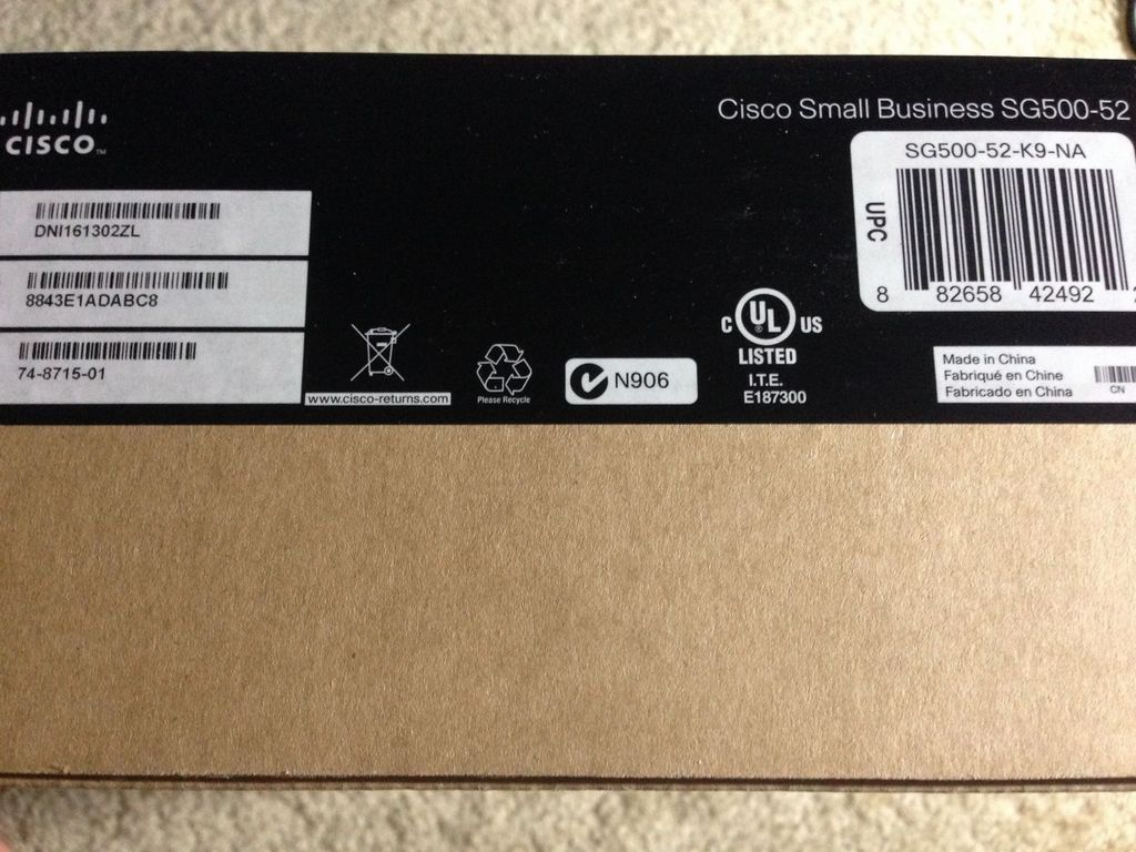 Cisco Small Business Sg500-52-K9-Na Sg500 52 Port Stackable Switch