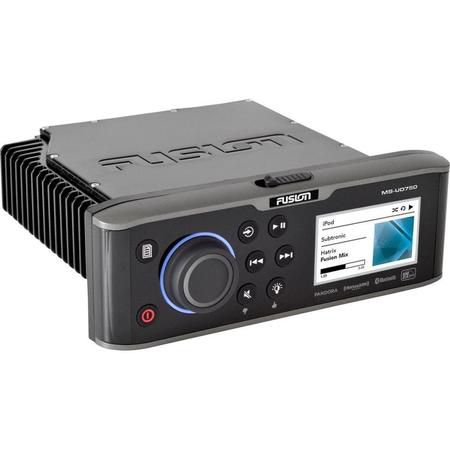 Fusion Ms-Ud750 Color Display Marine Stereo Com Unidock E Bluetooth