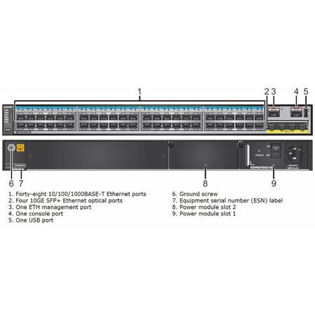 Huawei Switch S5720-52X-LI-AC 48P Gigabit 4x10G SFP+