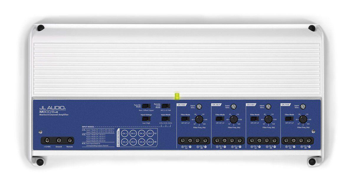 Jl Audio M800/8v2 Componente 8 Canais Alto-Falantes Subwoofers Barco Amplificador Marine