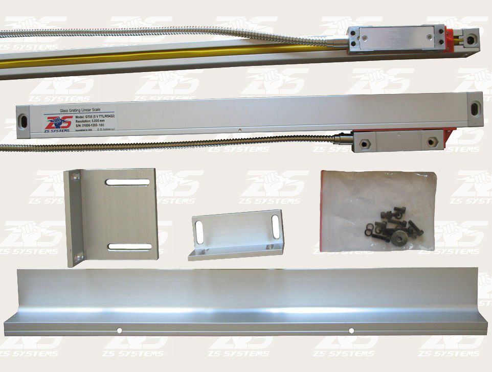 Kit Digital ReadOut DRO para 9x48 Bridgeport Mill w Balanças de vidro 2 eixos