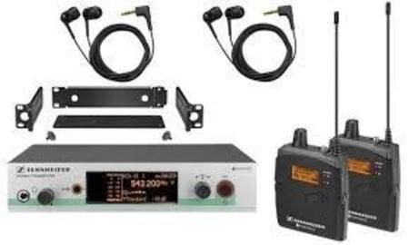 Kit Sennheiser Ew 300 2iem G3 A Monitor In-Ear Sem Fio