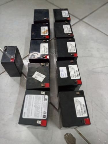 Lote 10 Bateria 12v 5 Descarregada