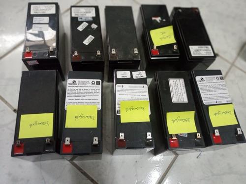 Lote De 10 Bateria 12v 7 Descarregada