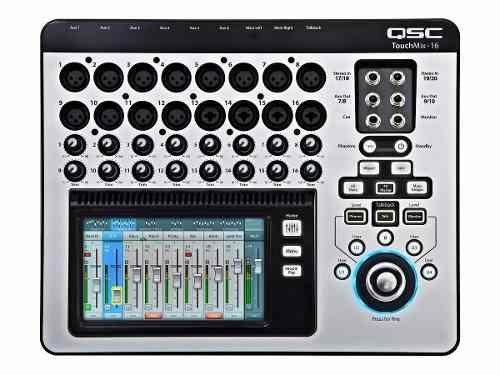 Mesa De Som Qsc Touchmix-16 Touch-Screen C/ 30 Ft Mogani